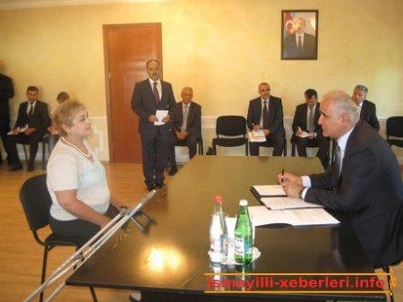 Şahin Mustafayev İsmayıllıda vətəndaşlarla görüşüb
