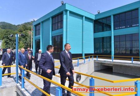 İlham Əliyev �İsmayıllı-1� Su Elektrik Stansiyasının açılışında iştirak etmişdir