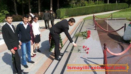 Ulu öndərin  məzarı ziyarət olunub