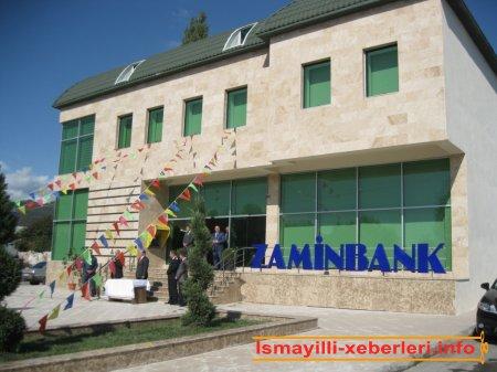 Bank filialının yeni binası açıldı